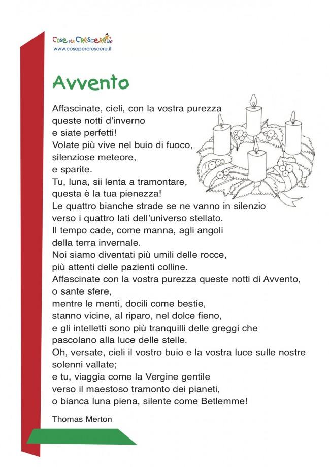 Poesia sull'avvento per bambini