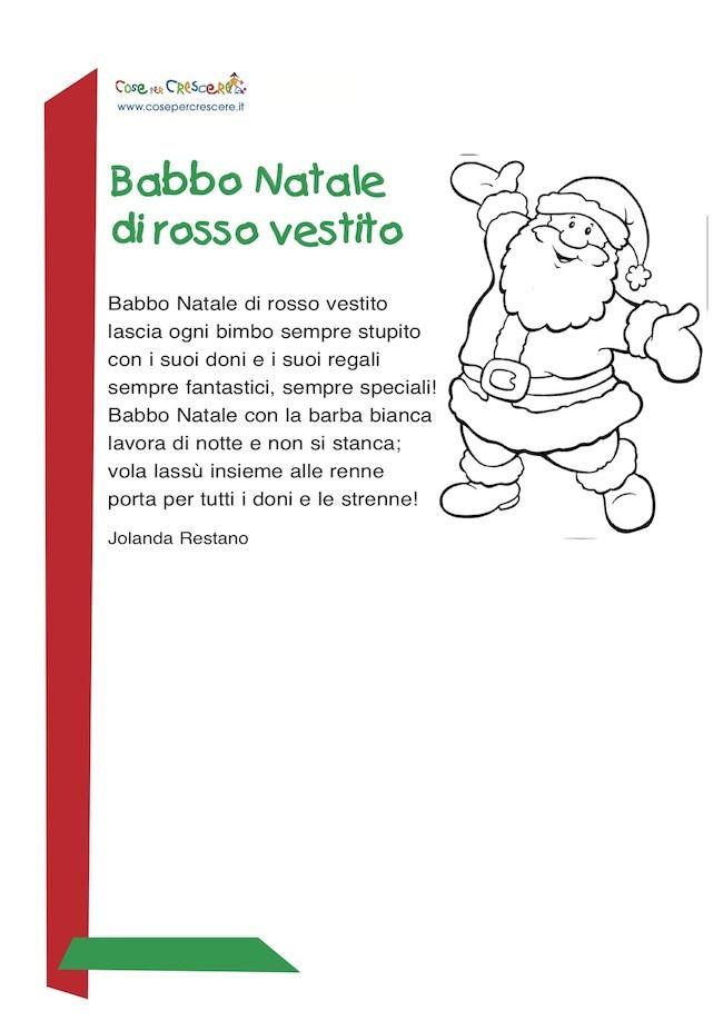 Babbo Natale Di Rosso Vestito Poesia Di Natale