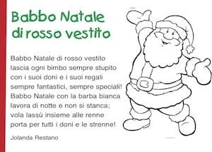 Filastrocca Di Babbo Natale.Babbo Natale Di Rosso Vestito Poesia Di Natale