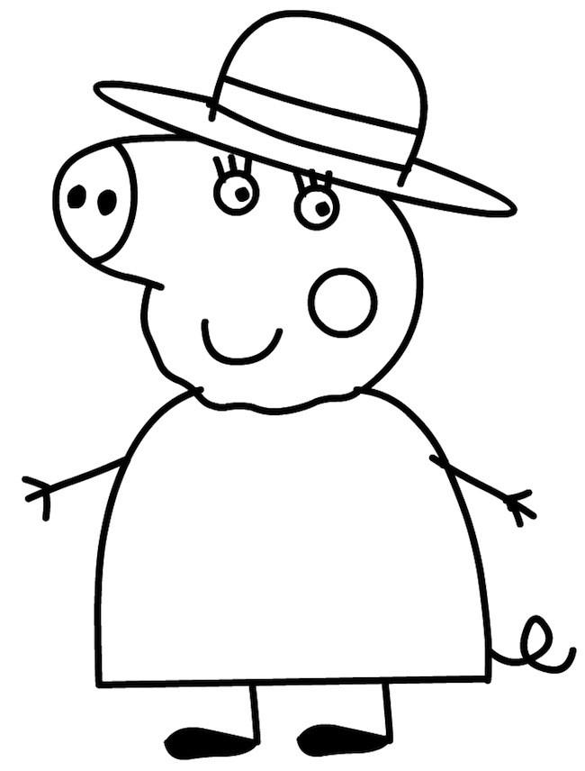 Disegno di Nonna Pig da colorare