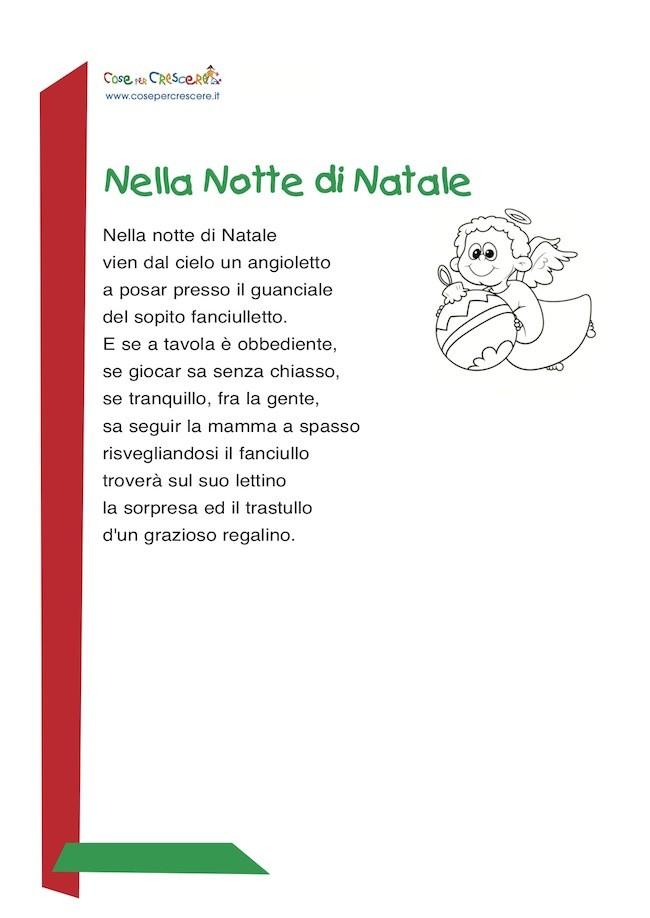 Poesie Di Natale Bambini.Nella Notte Di Natale Poesia Di Natale Per Bambini