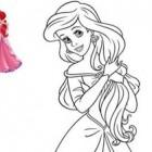 Ariel umana da colorare