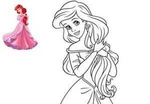 Ariel Umana Da Colorare Disegno La Sirenetta