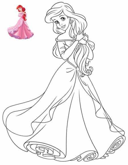 Ariel ballo for La sirenetta da stampare