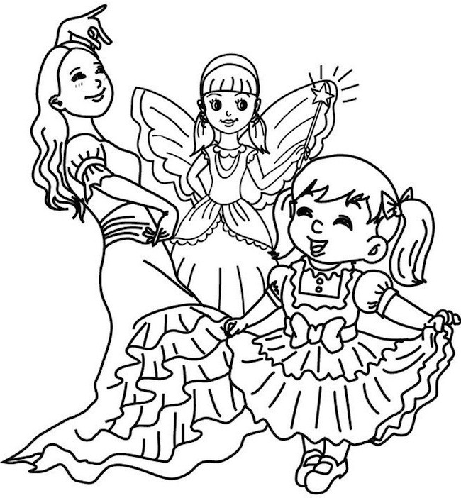 Bambine A Carnevale Da Colorare Cose Per Crescere