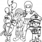 Disegno di bambini a Carnevale