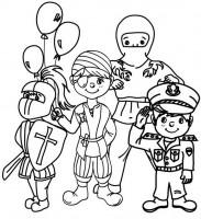 bambini vestiti carnevale