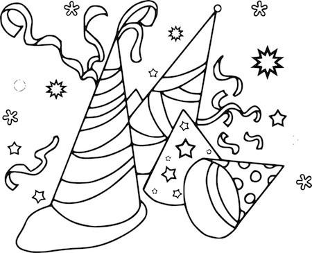Disegno Di Cappelli Di Carnevale Da Colorare Per Bambini