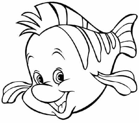 Disegno flounder da colorare