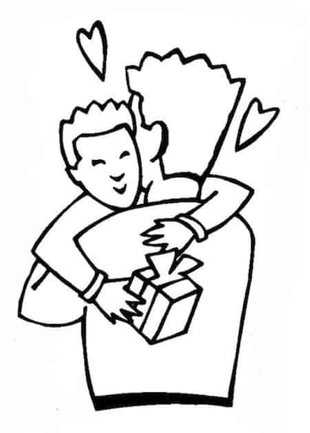 Un Abbraccio Papà Disegno Da Colorare Per La Festa Del Papà