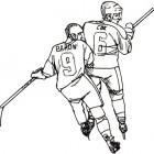 Hochey su ghiaccio: disegno da colorare