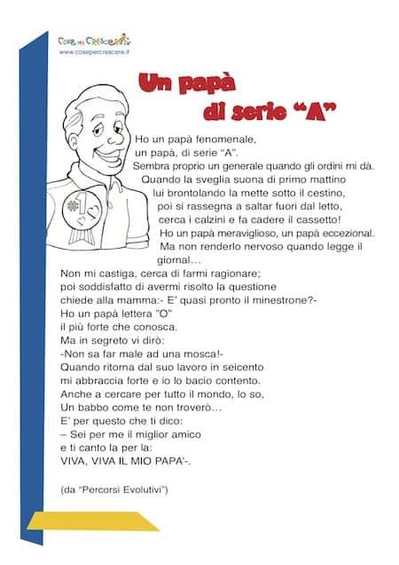 Poesia per il papà
