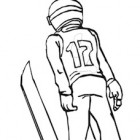 Disegno di salto con gli sci