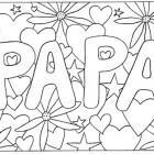 Scritta da colorare per il papà