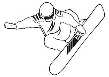 Disegno di snowboard da colorare