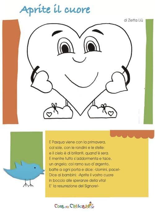 Aprite cuore for Poesia di pasqua per bambini