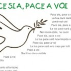 Canzone Pace sia, pace a voi