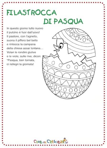 Filastrocca pasqua for Poesia di pasqua per bambini
