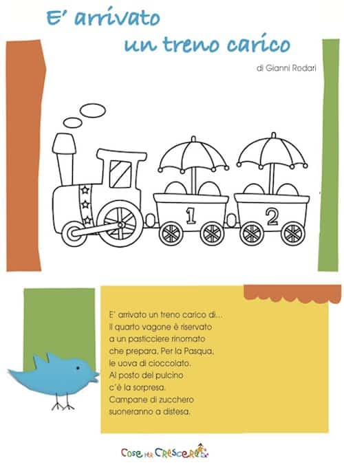 Poesia di Pasqua per bambini di Gianni Rodari