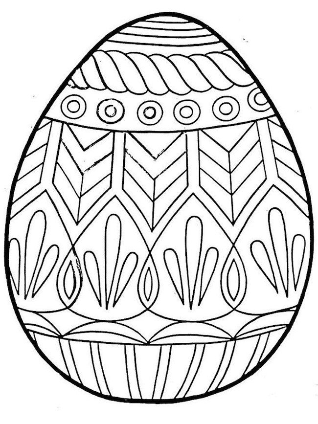 Disegno di uovo di Pasqua decorato. uovo decorato