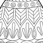 Disegno di uovo di Pasqua decorato