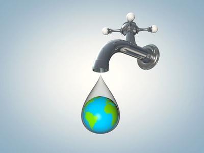 Planète goutte d'eau