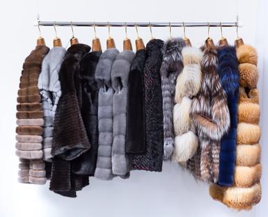 Fur coats.
