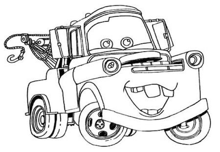 Carl attrezzi da colorare for Cars 2 da stampare