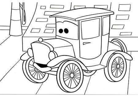 Lizzie da colorare for Disegno di cars 2 da colorare