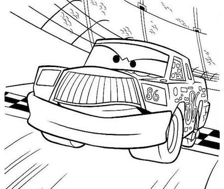Chick hicks da colorare for Cars 2 da stampare