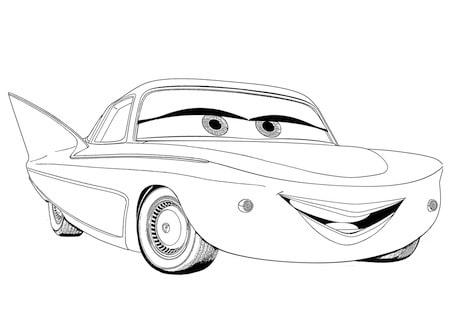 Disegno Di Flo Personaggio Di Cars Da Stampare E Colorare Gratis