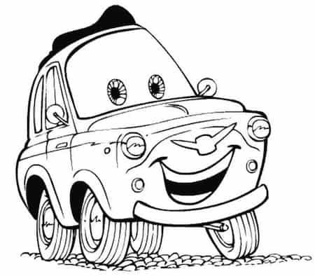 Disegno di luigi di cars for Disegni da stampare e colorare cars