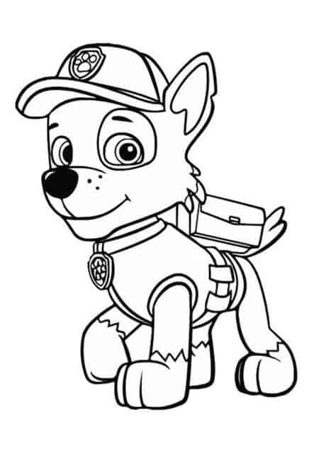 Disegno di rocky cucciolo dei paw patrol da stampare e for Pimpa da stampare e colorare