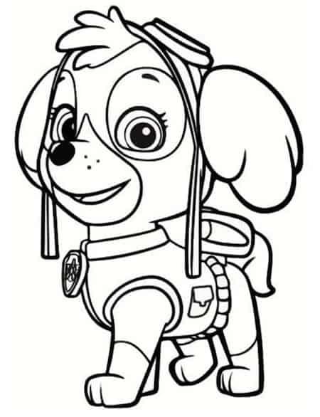 Disegno Del Cucciolo Skye Dei Paw Patrol Da Stampare E Colorare