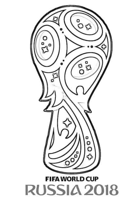 Logo mondiali calcio russia 2018 da colorare