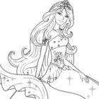 Disegno di Barbie sirena