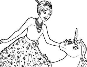 Disegno Di Barbie Principessa Odette E Dell Unicorno Lila Da