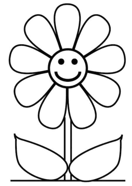 Margherita Da Colorare Disegno Di Fiore Per Bambini Da Stampare Gratis