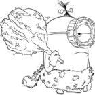 Minion cavernicolo da colorare