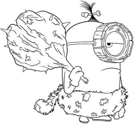 Disegno Di Minion Stuart Cavernicolo Da Stampare Gratis E Da Colorare