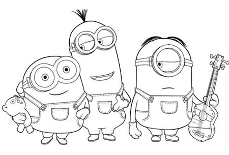 Disegno Dei 3 Minions Famosi Da Stampare E Colorare Gratis