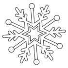 Disegno di fiocco di neve