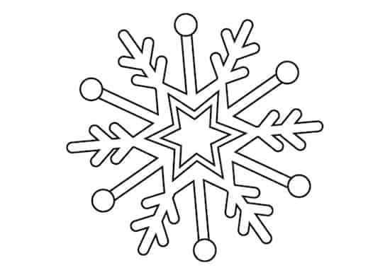Disegno di fiocco di neve for Fiocco di neve da ritagliare