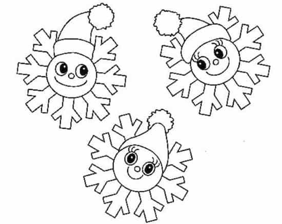 Disegno Di Fiocchi Di Neve Da Stampare Gratis E Colorare Per