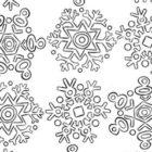 Cristalli di neve stilizzati da colorare