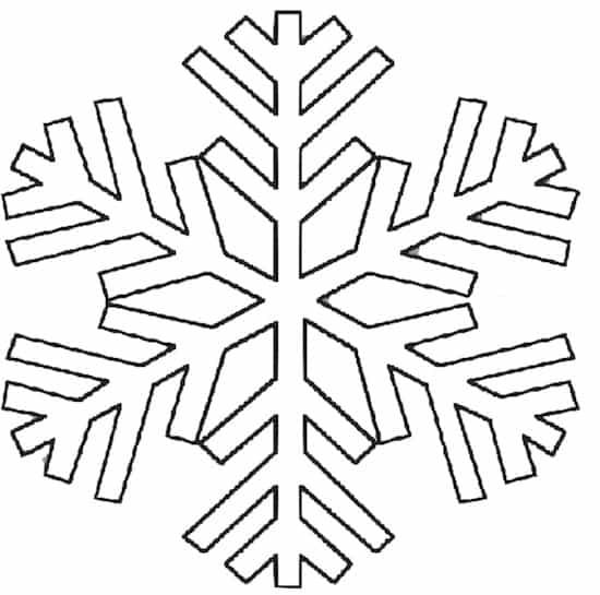 Fiocco di neve da colorare for Fiocco di neve da ritagliare