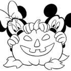Minnie e Topolino ad Halloween da colorare