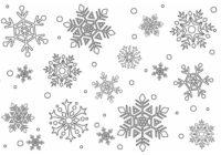 Disegni Di Fiocchi Di Neve Da Stampare Gratis E Da Colorare Per