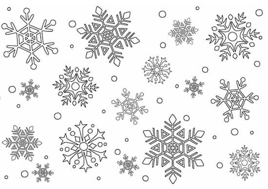 Disegno Di Neve Da Stampare Gratis E Da Colorare Per Bambini