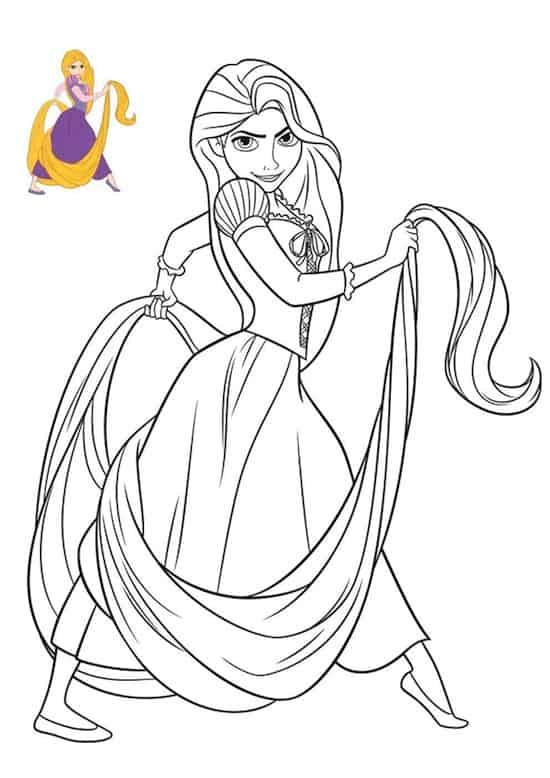 Disegno di rapunzel - Immagini di aquiloni per colorare ...